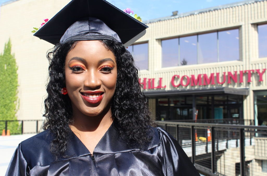 Two graduates climb different City-sponsored paths to college